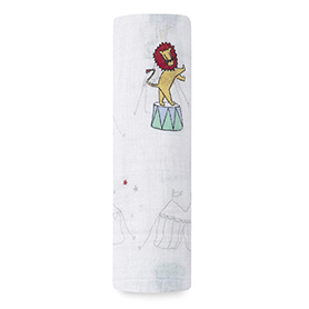 vintage circus - circus act classic swaddle