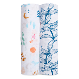 salty kisses 2-pack classic swaddles