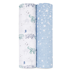 rising star 2-pack classic swaddles