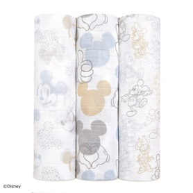 mickey+minnie 3-pack classic swaddles