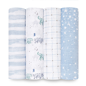 rising star 4-pack classic swaddles