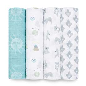 now + zen 4-pack classic swaddles