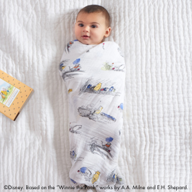 winnie the pooh 4-pack classic swaddles