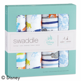 the jungle book 4-pack classic swaddles