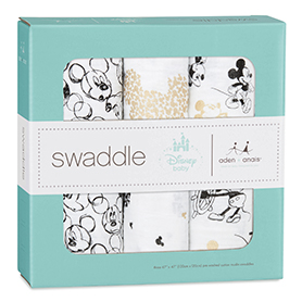 mickey's 90th 3-pack classic swaddles