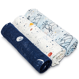 stargaze 3-pack silky soft swaddles