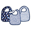 seafaring 3-pack classic snap bibs
