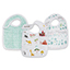 around the world 3-pack classic snap bibs