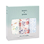 watercolor garden 3-pack silky soft swaddles
