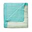 azure - bead + solid aqua bamboo dream blankets
