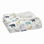 expedition-elephants+giraffes silky soft dream blanket